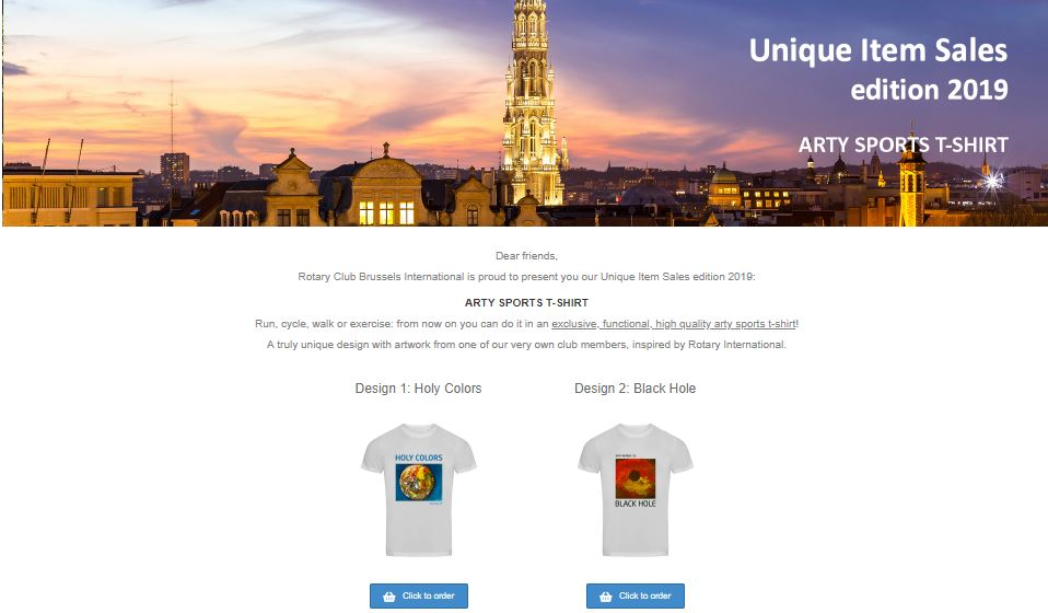 Actiewebsite Rotary Club Brussels International