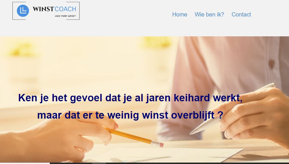 Portfolio strakke website winstcoach